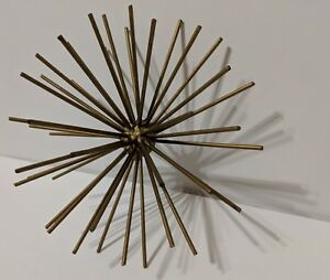 Sputnik Pom Metal Sea Urchin Wall Sculpture 7 5 Gold Vintage Curtis Jere Style