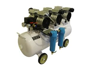3hp 18 Gallon Oil Free Noiseless Dental Air Compressor W 2 Stage Dryer