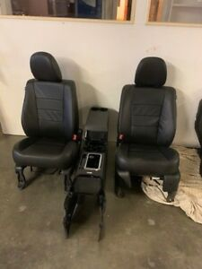 2011 Ford Escape Limited Leather Seats Front Back Center Console Set Black