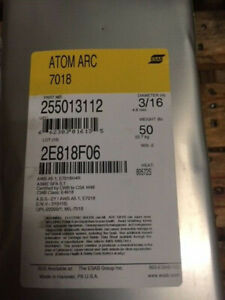 Stick Electrode Atom Arc 7018 Welding Wires 3 16 Dia 14 Long 50 Lb Can new