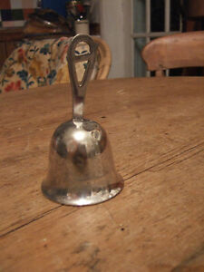A Delightful Antique Victorian Silver Plated Dinner Bell