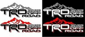 Trd Off Road Mountain Pair Vinyl Vehicle Decals