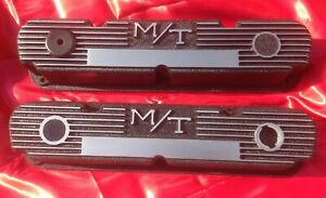Mopar 340 Valve Covers M T Finned Aluminum Mopar Small Block L A 273 318 360