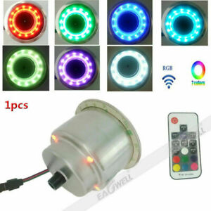Rgb 14 Led Stainless Steel Cup Drink Holder Remote For Drain Marine Boat Yacht