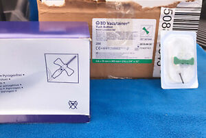 Case Of 200 Bd Vacutainer Push Button Blood Collection Set Model 367344 New