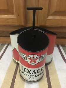 Texaco Desk Pen Pencil Holder Metal Gas Pump Oil Vintage Style Star Aircraft