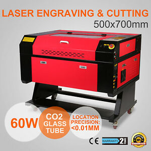 60w Laser Engraving Cutting Machine 700x500mm Laser Engraver Usb Port Printer