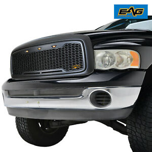 Eag Led Replacement Grille Front Upper Grill For 02 05 Dodge Ram 1500 2500