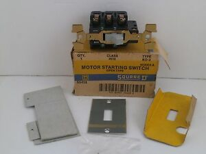 Square D Motor Starting Switch 2510 Ko 2 new old Surplus In Box