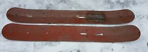 Vintage 63 Steel Skis 1 Pair Snowmobile Conversion Parts For Ford Model T