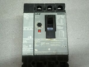 Used Siemens 50amp 3pole 600vac 250vdc Breaker With Shunt Trip Ed63a050 S01ed6