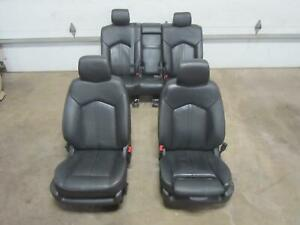 12 Cadillac Srx Front Seat Complete Rear Back Seats Black Leather Ebony Al0 Set