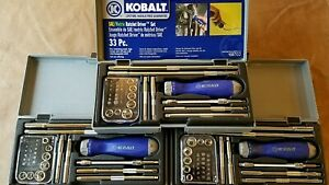 Kobalt 1 4 Sae Metric 33 Pc Ratchet Driver Set 68702 New