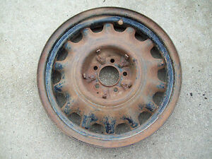 Vintage Artillery Wheel Chevy Ford Dodge Chevrolet 5 Lug Artillery Wheel