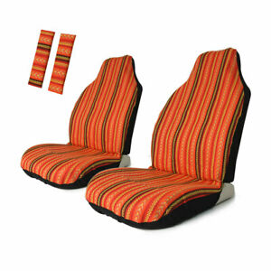Copap Universal Baja Bucket Front Seat Cover 2pcs With Seat Belt Covers 2pcs