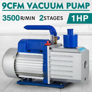 9cfm 2 Stages Vacuum Pump 1hp Air Conditioning Hvac Air 3x10 1pa Refrigeration