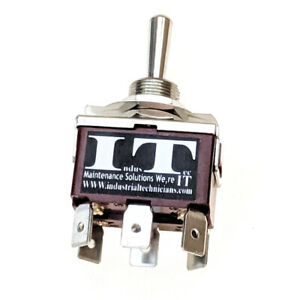 Industec 20 Amp Dpdt 6 1 4 Pc Pin Toggle Switch Maintained 3 Position 12v 24v