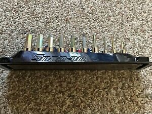 Snap On 10 Pc 3 8 Dr Metric Hex Socket Driver Set W Magnetic Tray Free Ship
