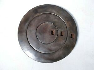 Antique Cast Iron Wood Stove Three Ring Cover Lid Marked 8 Ideal 1899 On Back