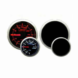 Prosport Boost Gauge Electrical Amber white With Peak Warning 52mm 2 1 16