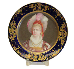 Sevres Hand Painted Porcelain Cabinet Plate 19th Century Beauty