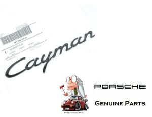 Genuine Porsche Cayman Trunk Script Emblem 981 Gloss Black 98155923902