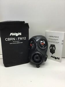 Avon Cbrn fm12 Respirator R h Gas Mask Size 1 New Old Stock From Police Agency