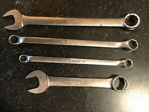 Snap On Tools Lot Of Four Combination Offset Box Wrenches Free Shipping U S A