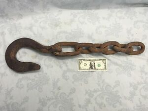 28 Hand Forged Anchor Chain With 11 1 2 Hook Large Links D9