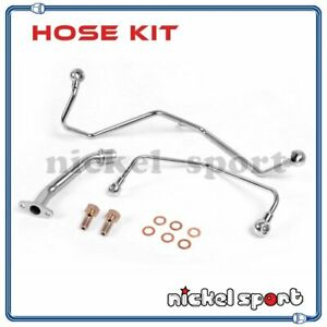 Turbo Oil Water Line Kit For Td04 Upgrade On Saab 9000 Aero B234r