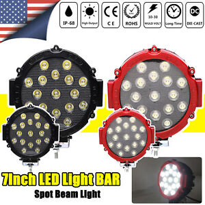 4pcs 136w 7inch Round Off Road Led Work Light Fog Driving Roof Bar Bumper Suv Us