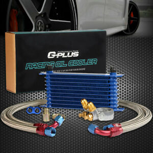 Gplus For Car Truck 10 Row Thermostat Adaptor Engine Racing Oil Cooler Kit