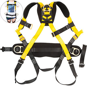 Construction Harness Universal Full Body W 3 D ring Safety Fall Protection