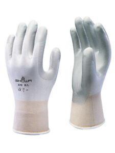 Showa Atlas Fit 370w White Nitrile Gardening Work Gloves 1 Dozen s m l xl