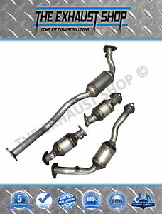 Fits 2001 2004 Nissan Xterra frontier 3 3l All Four Catalytic Converter Set