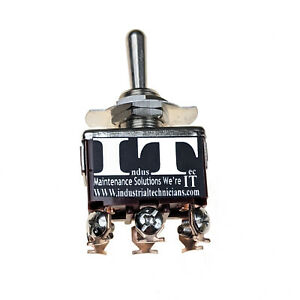 Industec 20a 125v Dpdt 6 Screws On off on Toggle Switch Momentary 3 Pos 12v