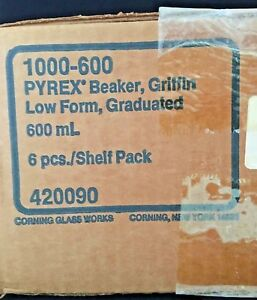 Pyrex Griffin Beakers Graduated Corning Beaker 1000 600