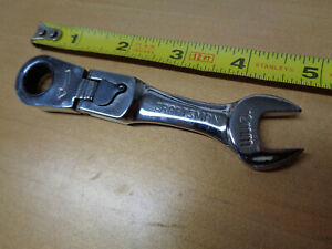 Usa Made Craftsman 12mm Stubby Short Locking Flex Head Ratchet Wrench Metric