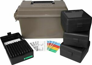MTM 223 Caliber Ammo Can with 4 Boxes Utility Storage Container Ammunition Crate