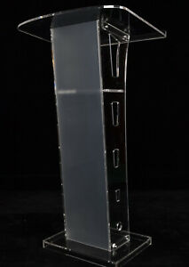 Modern Durable Clear Acrylic Podium Plexiglass Lectern Conference Church Pulpit