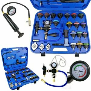 28pc Master Radiator Pressure Tester Kit Coolant Vacuum Purge Refill W Adapters