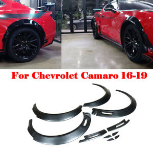 Fiber Glass Fender Flares Extra Body Wheel Arches For Chevrolet Camaro 16 19