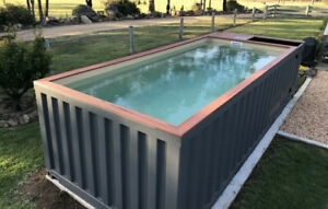 Shipping Container Pool 20ft Above Ground Or In Ground No Glass Windows
