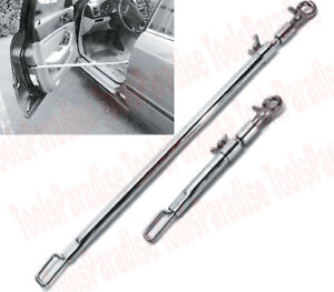 Auto Body Shop Telescopic Door Supporter Jammer Holder Tool Stick 2pcs