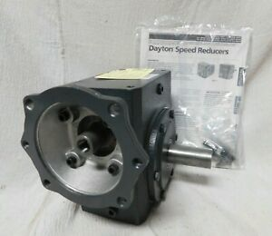 Dayton Standard Cast Iron C face Speed Reducer Double Output 1300 Lb Overhung