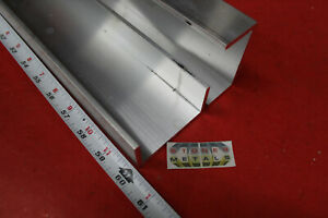 2 Pieces 3 X 1 1 2 X 3 16 Wall 6061 T6 Aluminum Channel 60 Long Mill Stock