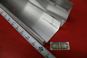 2 Pieces 2 1 4 X 1 X 1 8 Wall 6061 T6 Aluminum Channel 24 Long Mill Stock