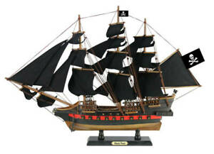 Wooden Black Pearl Black Sails Limited Model Pirate Ship 26 Handcrafted