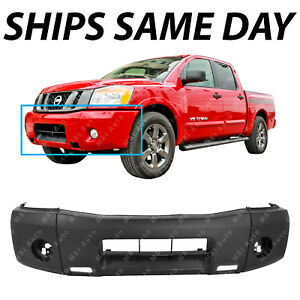 New Primered Front Bumper Cover Replacement For 2004 2014 Nissan Titan Truck