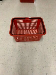 Red Plastic Shopping Grocery Basket